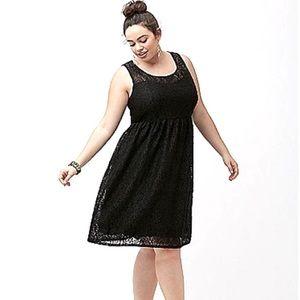 Lane Bryant Fit & Flare Lace Dress